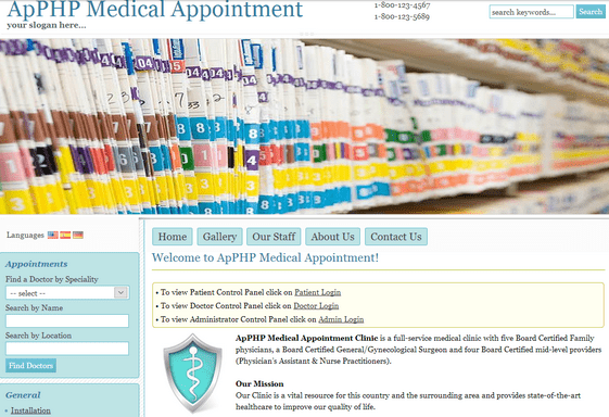 ApPHP Medical Appointment Coupon